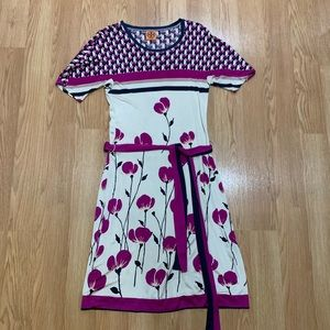 Gorgeous Tory Burch silk knit floral dress